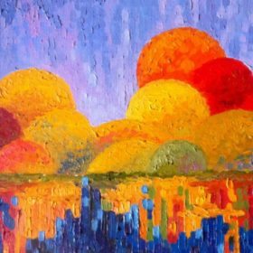 Осенняя мозаика 30x50
